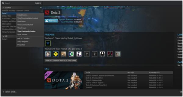 Изменение языка в Steam