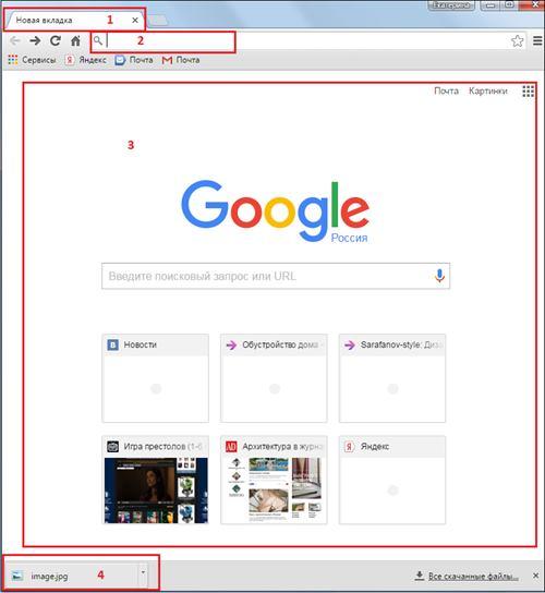 интерфейс Гугл Хром
