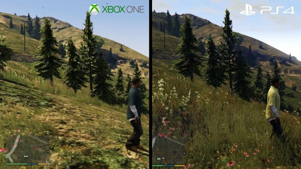 В сравнении между двумя консолями можно видеть погрешность изображения
