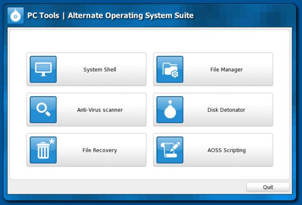 Загрузочный диск PC Tools AOSS