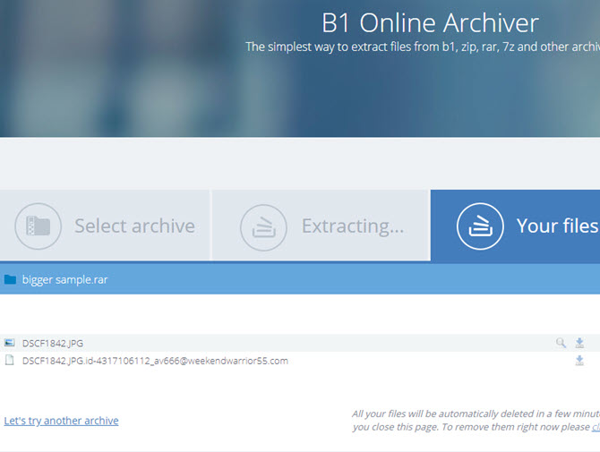 B1 Online Archiver