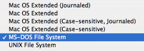 Файловые системы на Mac