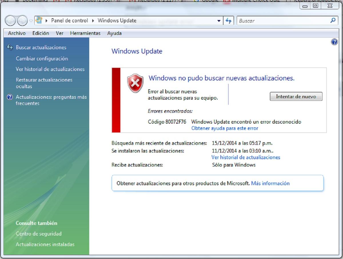 Ошибка 0*80072f76 в Windows 10