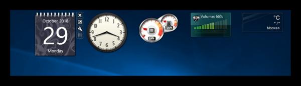 Гаджеты от Desktop Gadgets на Windows 10