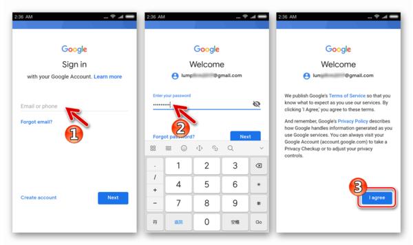 Google Play Market на Xiaomi авторизация в Гугл Аккаунте после установки Магазина