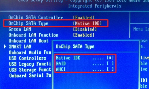 OnChip SATA Type