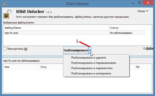 Скачать прогу для удаления неудаляемых файлов IObit Unlocker