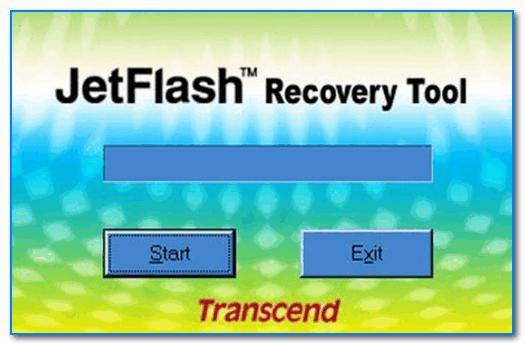 Главное окно утилиты JetFlash Recovery Tool - скриншот работы