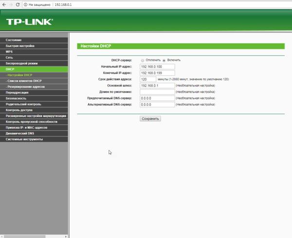 Заполняем поля DNS-сервера вручную