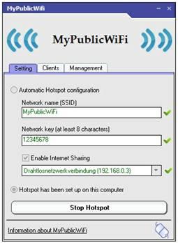 Остановите свой виртуальный WiFi Hotspot