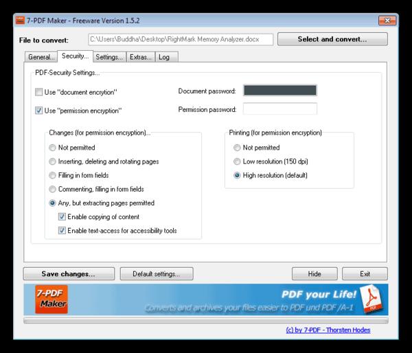 Программа для создания PDF файлов 7-PDF Maker