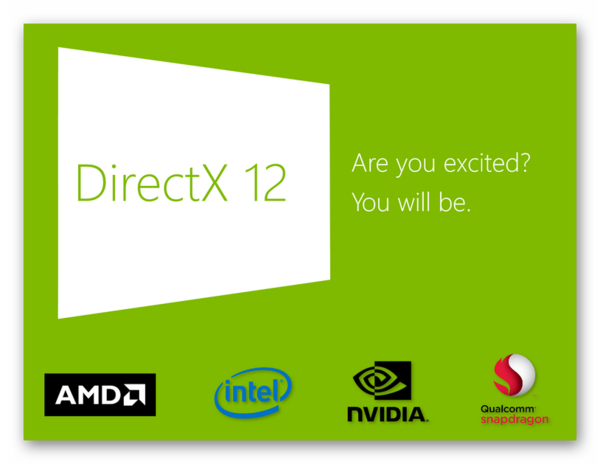 Простая картинка с надписью DirectX 12