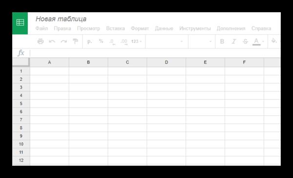 Редактор таблиц в Google Таблицы