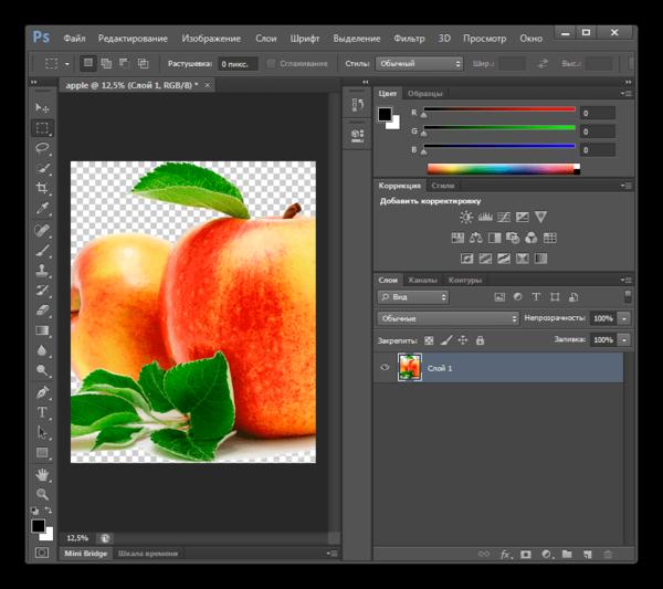 Содержимое файла в формате AI открыто в программе Adobe Photoshop