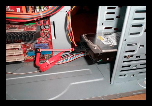 Соединение SATA-диска с платой