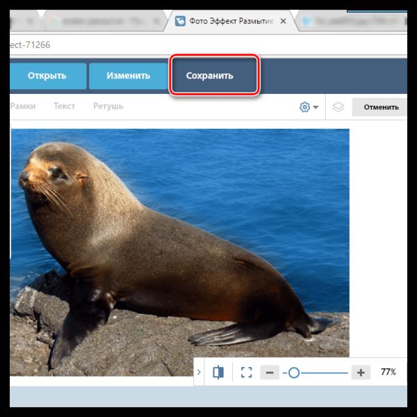 Сохранение готового изображения в онлайн-фоторедакторе Avatan