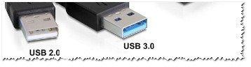 USB 2.0 и USB3.0 (помечен синим цветом)