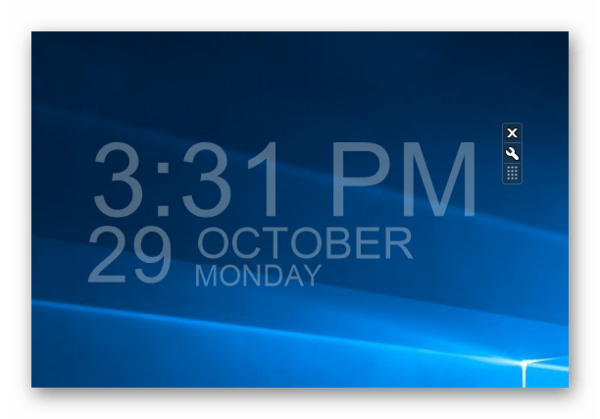 Успешно добавленный гаджет от 8GadgetPack на Windows 10