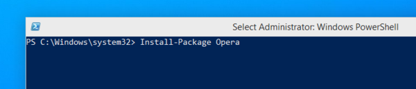 Установка программ - через OneGet в Windows 10
