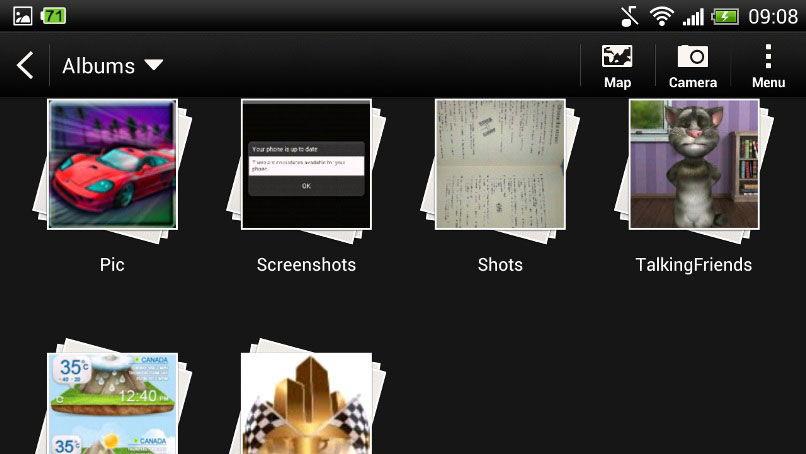 Мультимедийные файлы в галерее