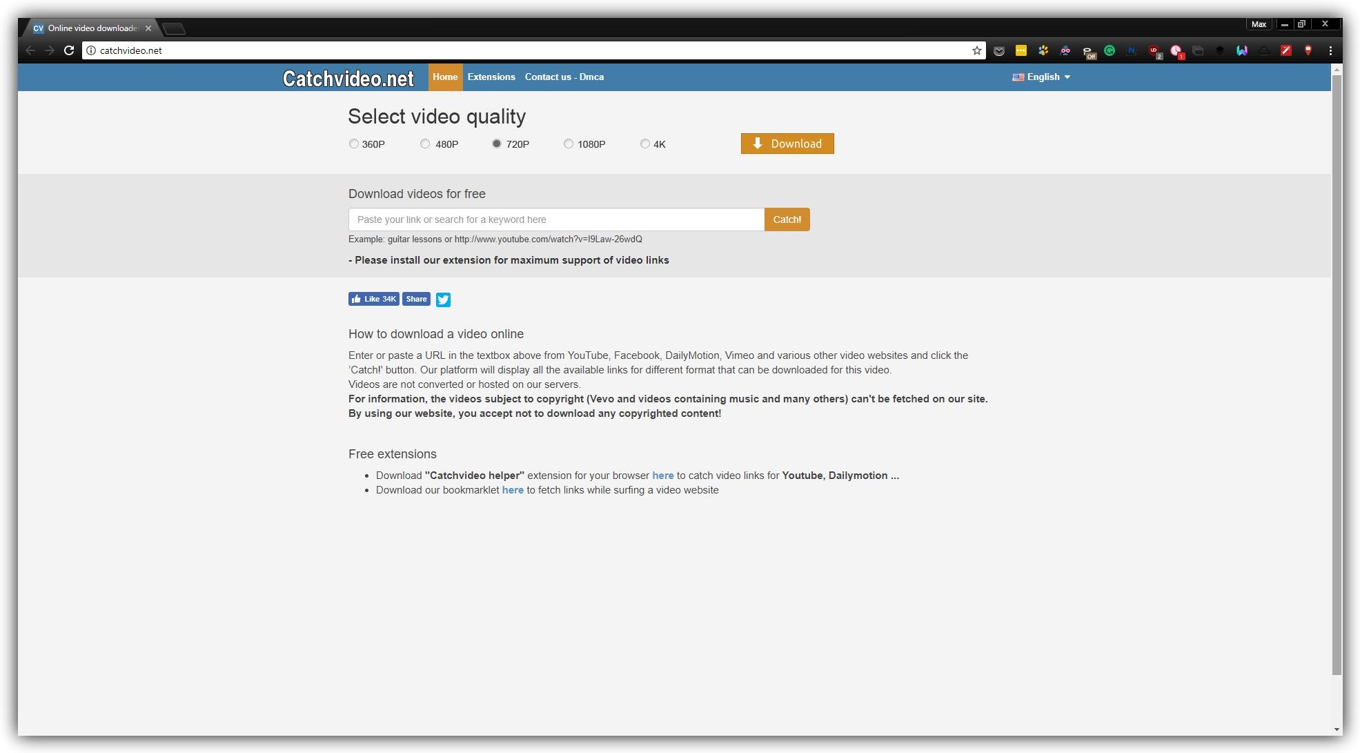 Как скачать видео без программ: Catchvideo.net