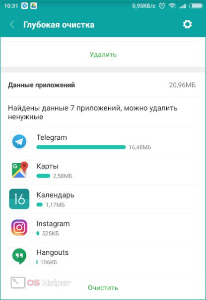 Данные приложений