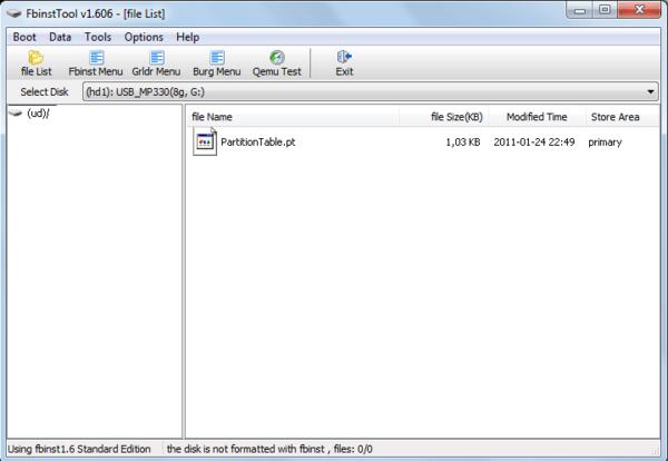 файл PartitionTable.pt в FBinst Tool в WinSetupFromUsb
