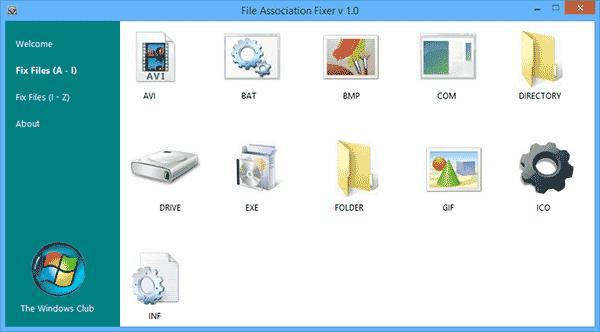 Программа File Association Fixer