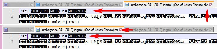 Заголовки файлов CBR и RAR