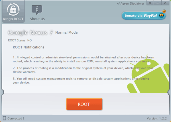 Кнопка получить root права в Android