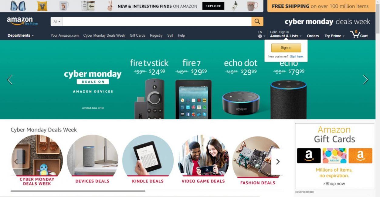 Почему именно Amazon?