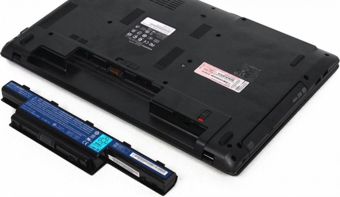 Новый ноутбук с батареей
