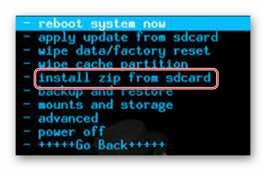 install zip from sd card recovery android