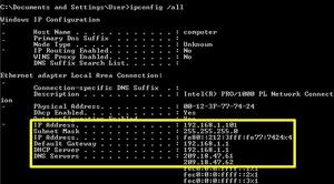 IP компьютера