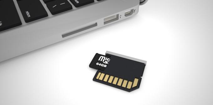 MicroSD в адаптере