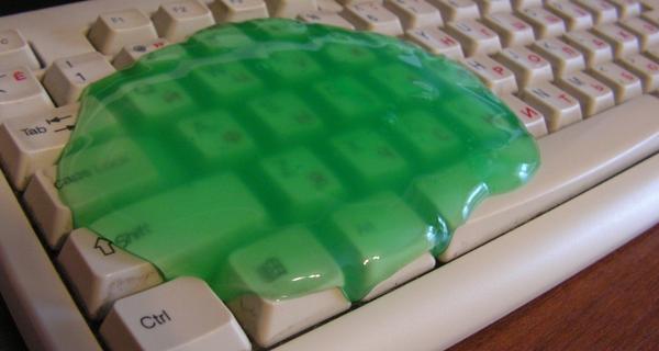Лизун для очищения клавиатуры от мусора