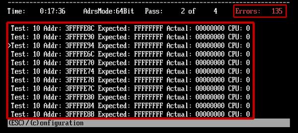 ошибки оперативной памяти