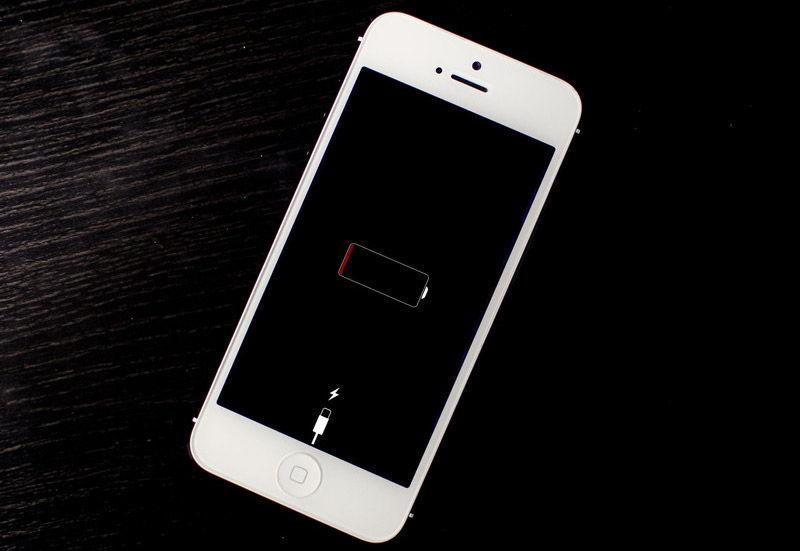 Индикация зарядки телефона