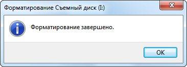 Отчет о форматировании
