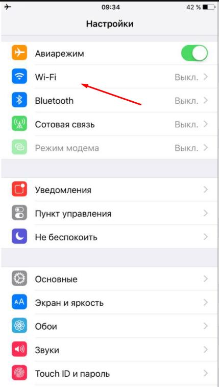 Переход к списку сетей на IOS
