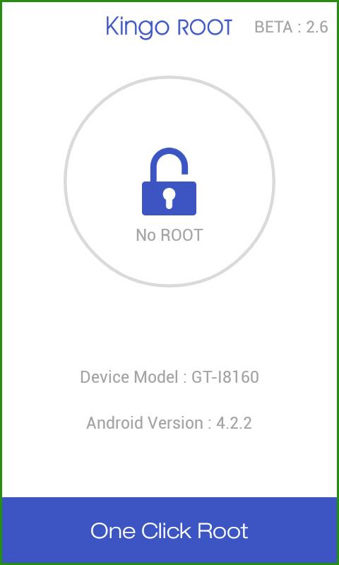 Интерфейс Kingo Root для Андроид