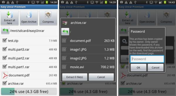 screenshot Easy Unrar