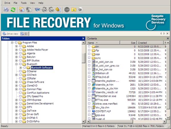 Восстановление данных с жесткого диска Seagate File Recovery