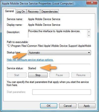 В окне свойств убедитесь, что сервис запущен и что тип запуска установлен автоматический