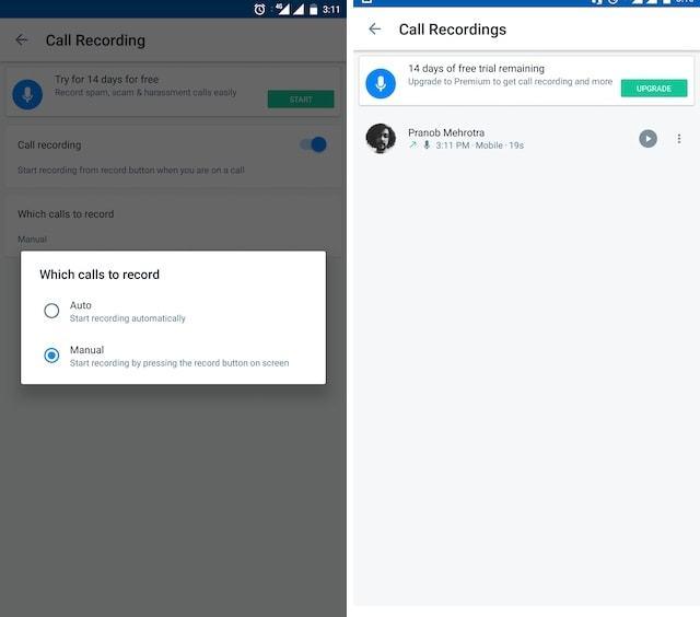 Truecall - программа для записи звука разговора на Android