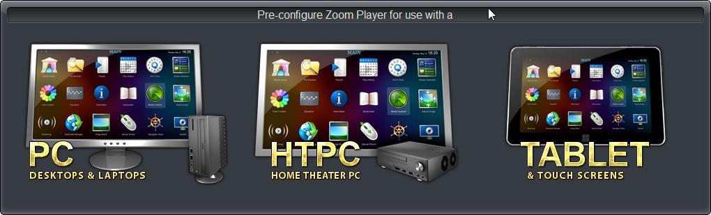 Внешний вид Zoom Player