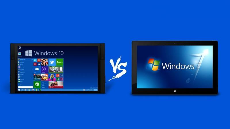 Windows 10 vs Windows 7