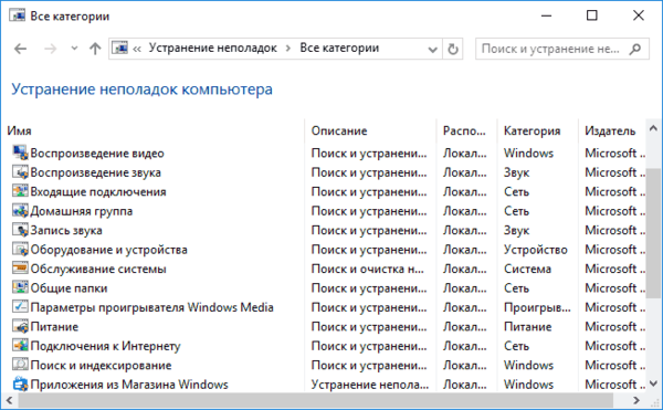 Полный список автоматических исправлений Windows