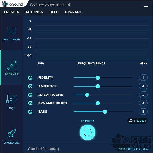 Настройки FX Sound Enhancer