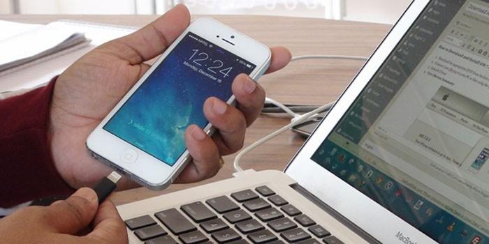 Подключение смартфона к ноутбуку